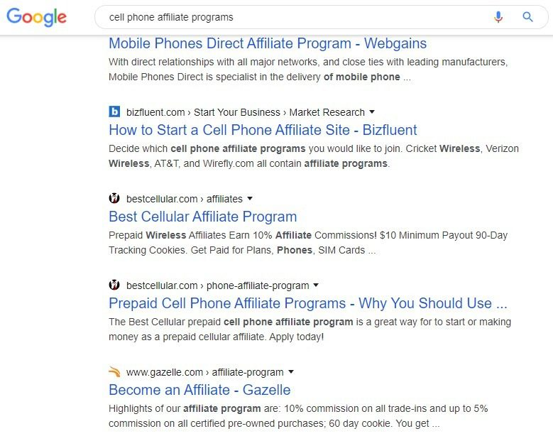 10 Cell Phone Affiliate Programs - affiliate list