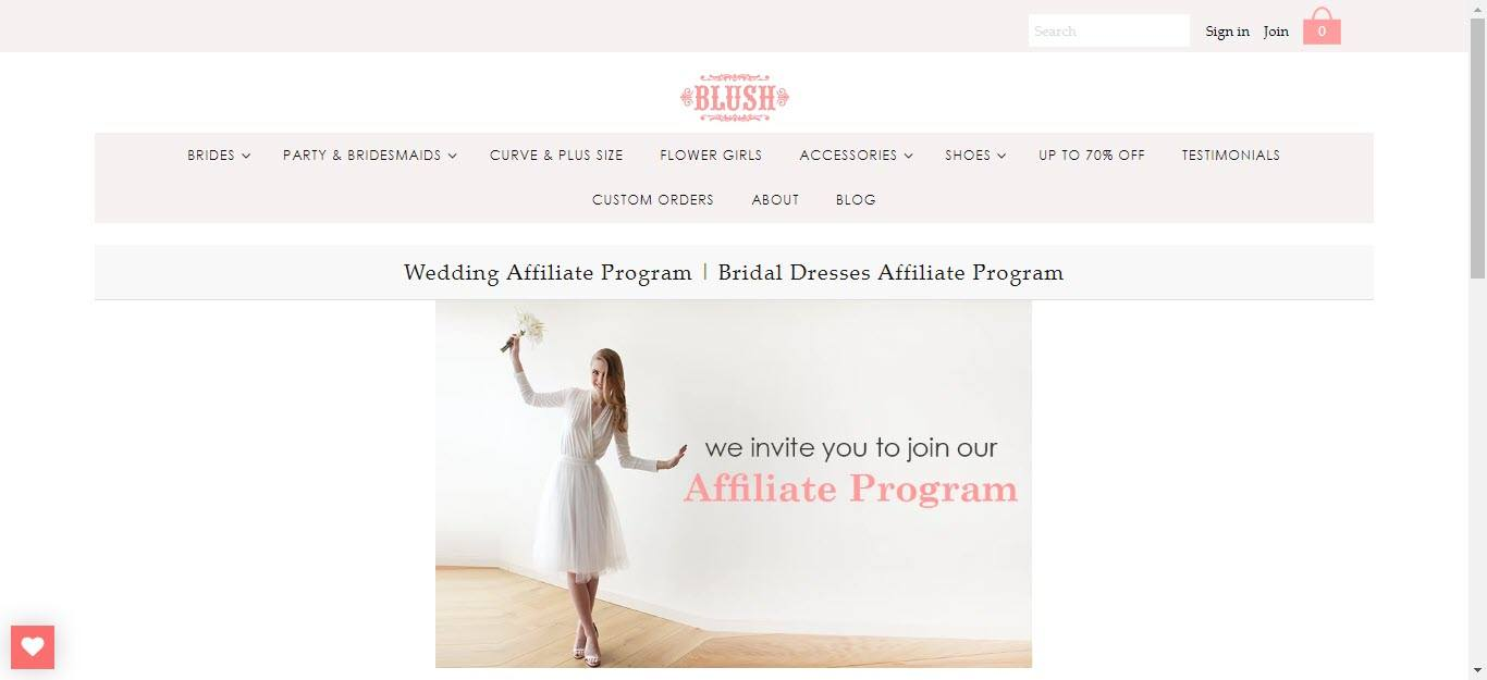 Wedding Affiliate Program - Blush affiliate