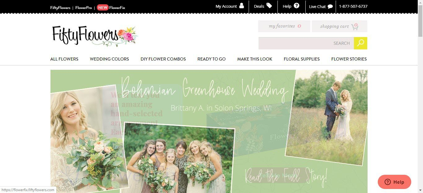 Wedding Affiliate Program - Fifty flowers