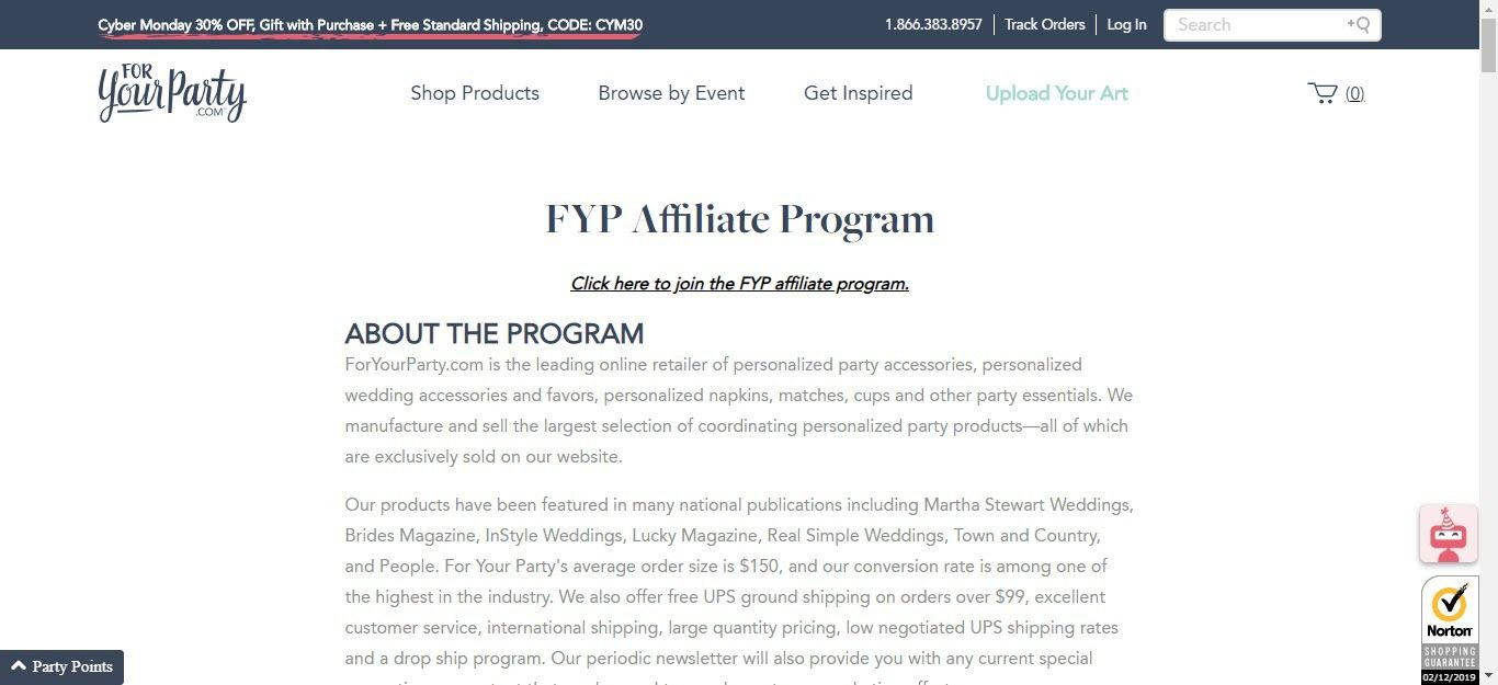 Wedding Affiliate Program - For Your Party affiliate