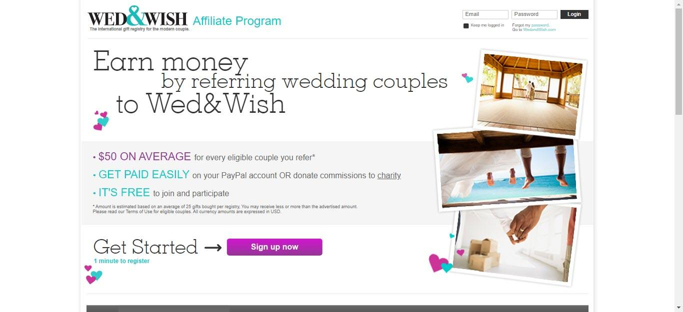 Wedding Affiliate Program - Wed and Wish affiliate