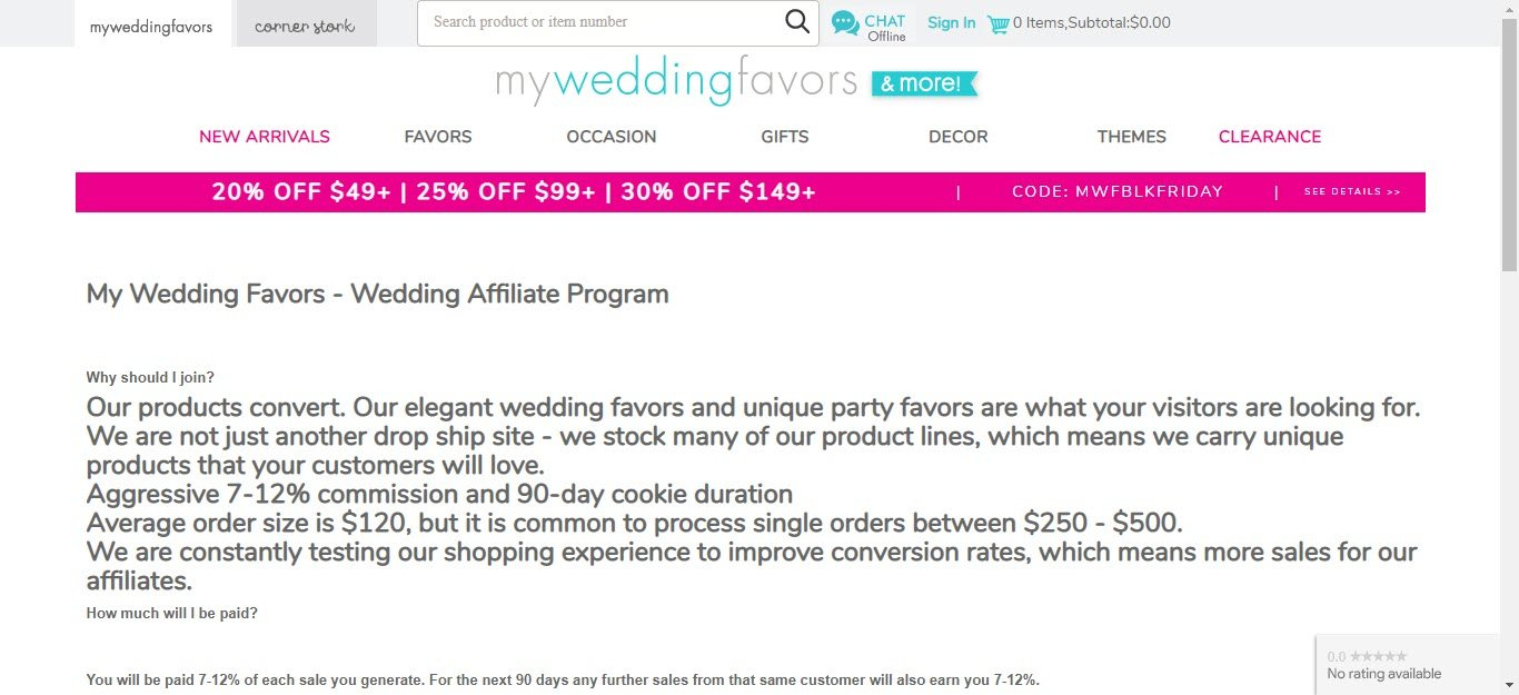 Wedding Affiliate Program - my wedding favours affiliate