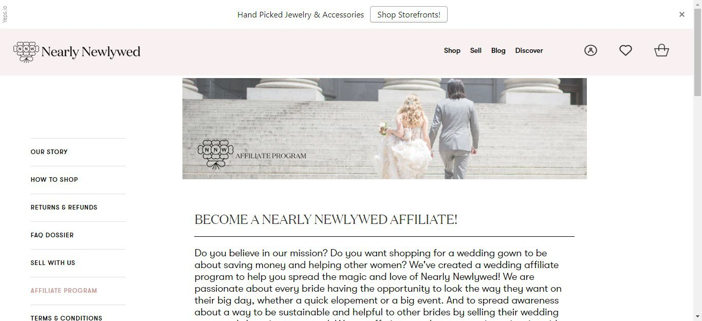 Wedding Affiliate Program - nearly newlywed affiliate
