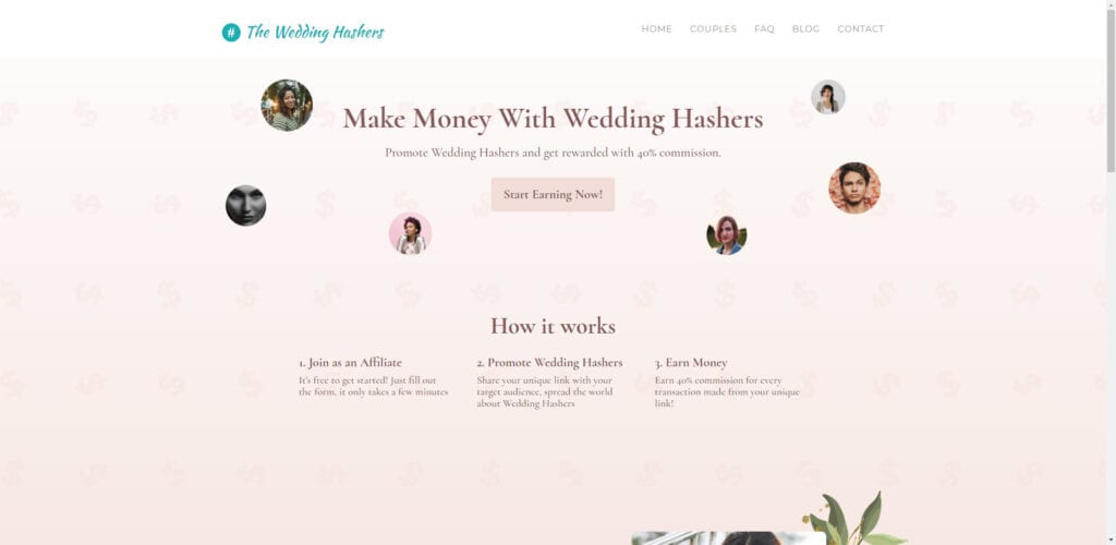 Wedding Affiliate Program - wedding hashers affiliate