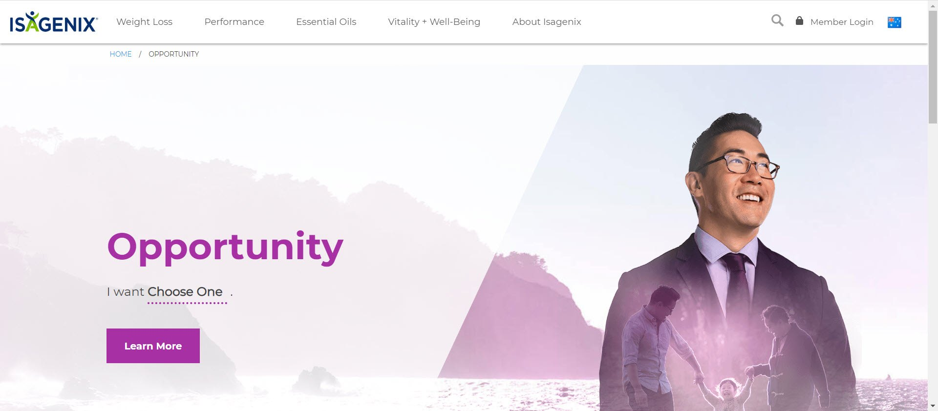 Is Isagenix a MLM - opportunity page