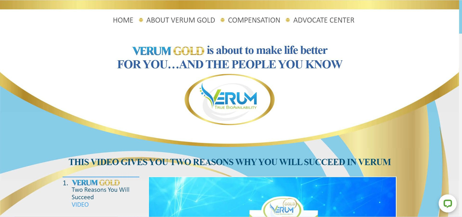 Verum Gold MLM Review - Opportunity