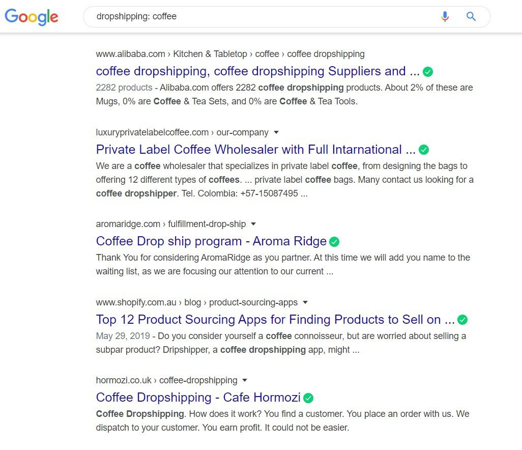 Sell Coffee Online - dropshipping
