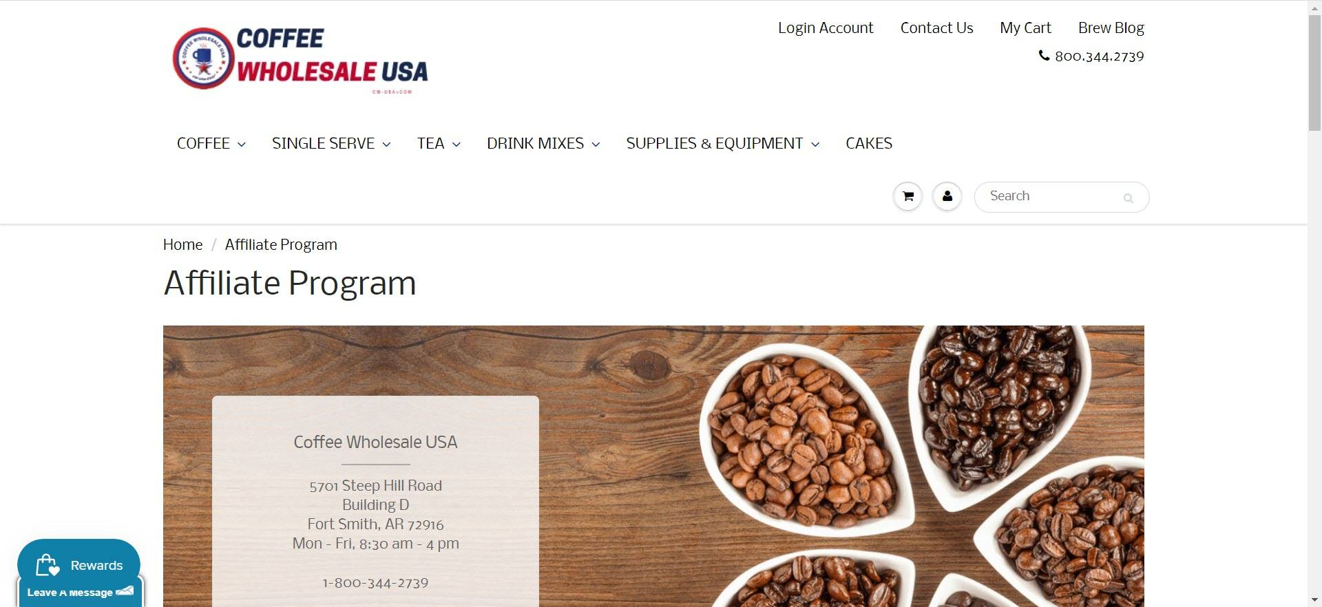 coffee affiliate programs - Coffee Wholesale USA affiliate