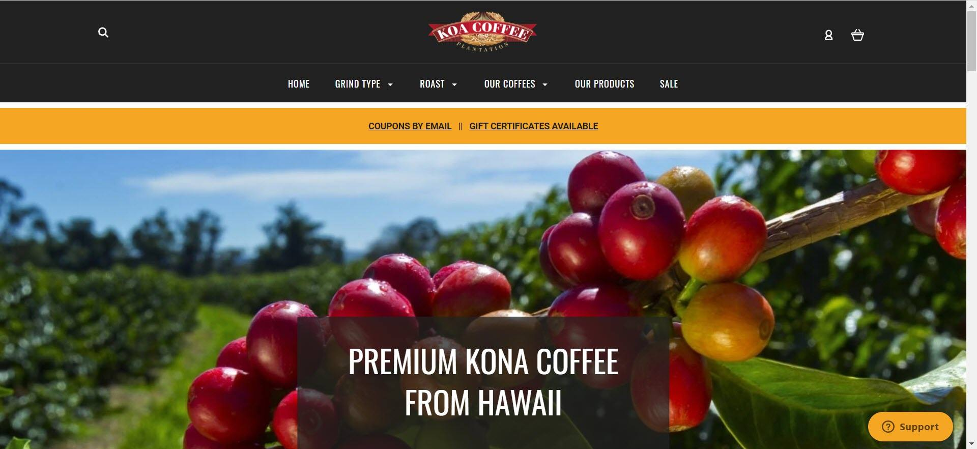 coffee affiliate programs - Koa