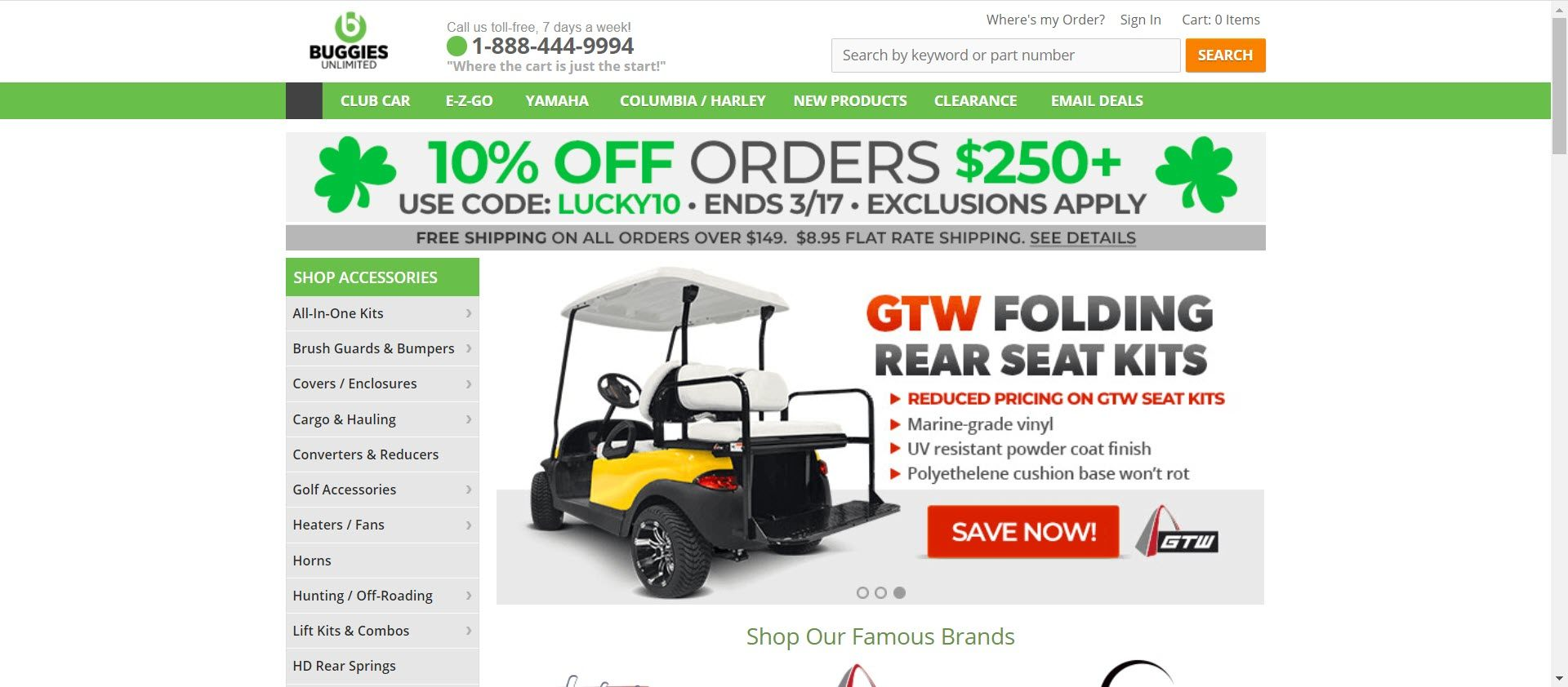 Best Golf Affiliate Programs - Buggies unlimited
