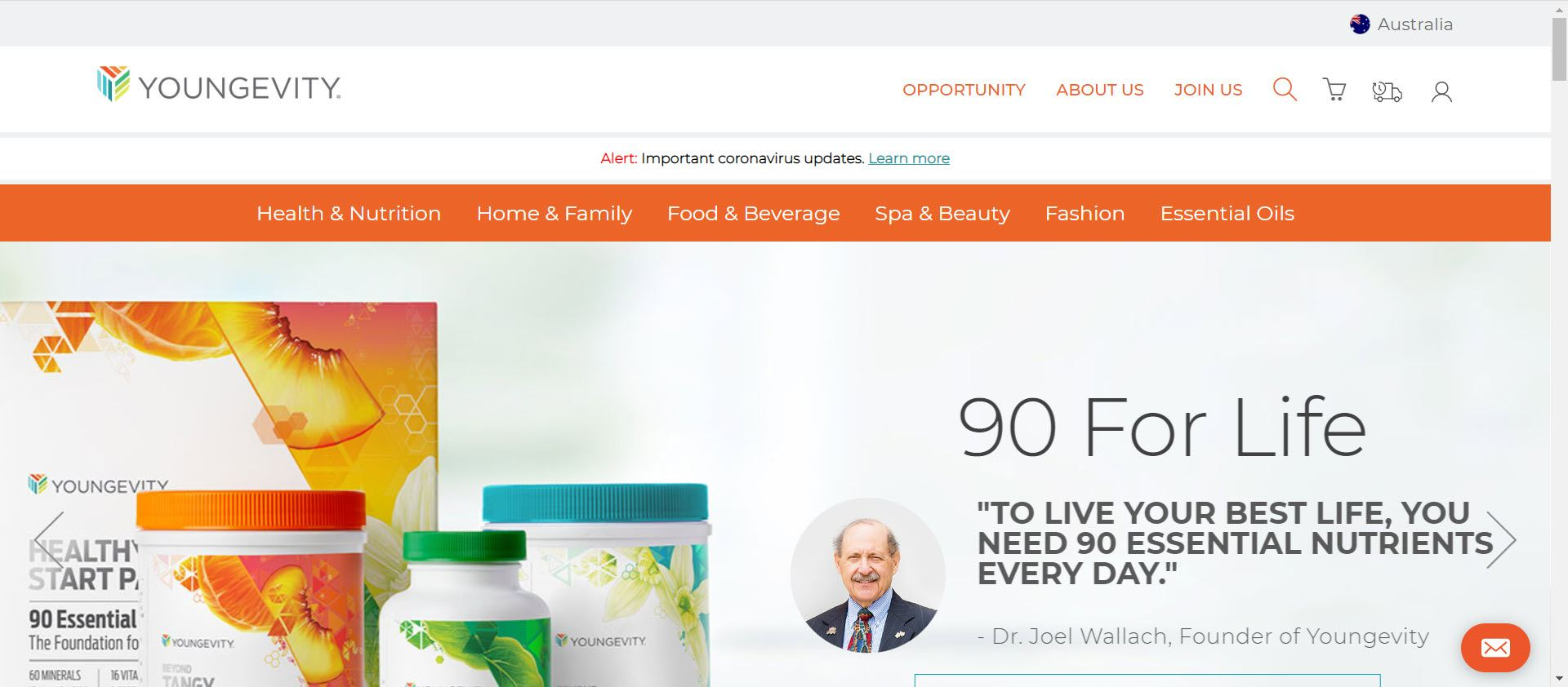 Youngevity MLM Review - Home