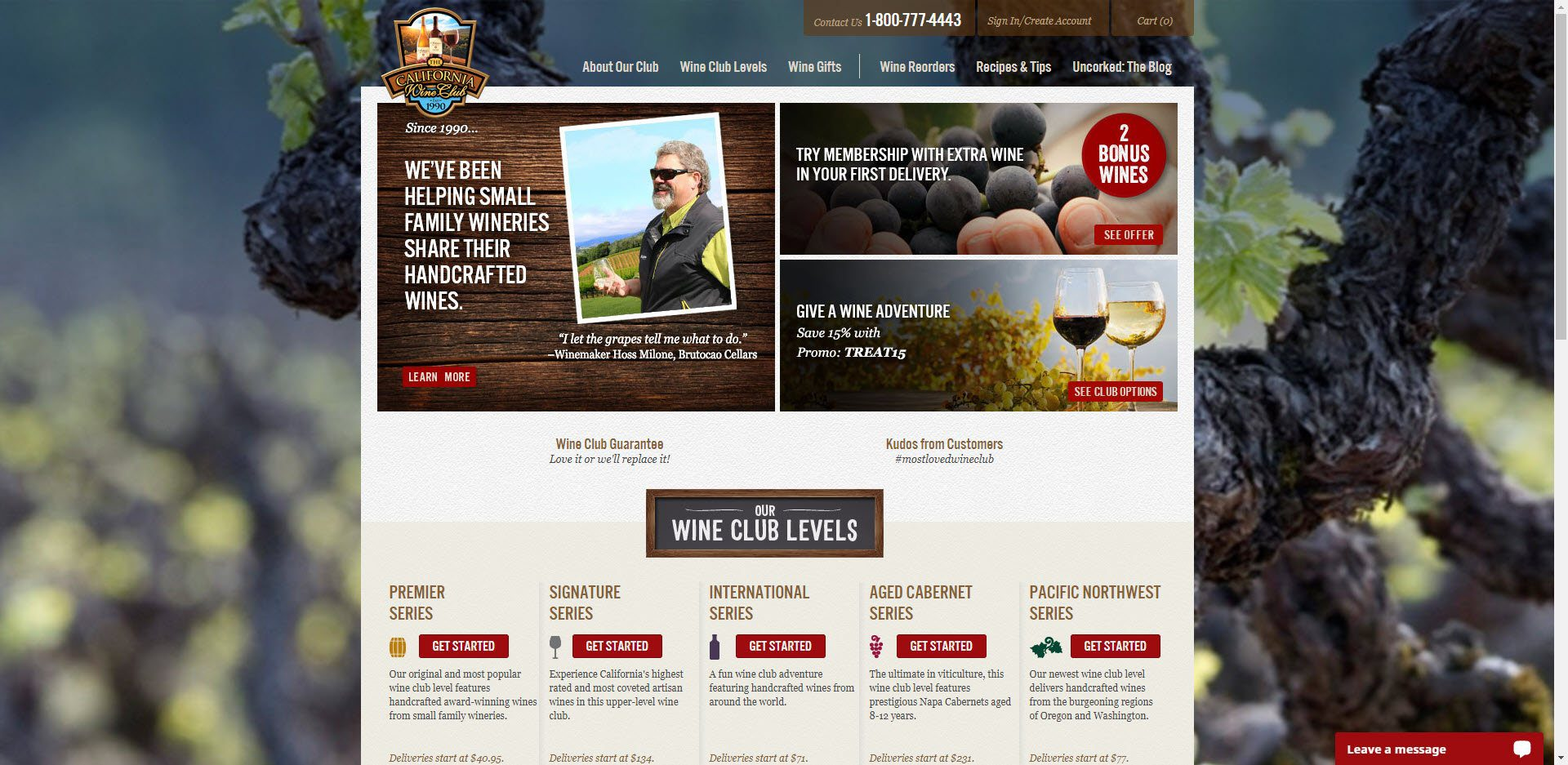 Wine Affiliate Programs - California Wine Club