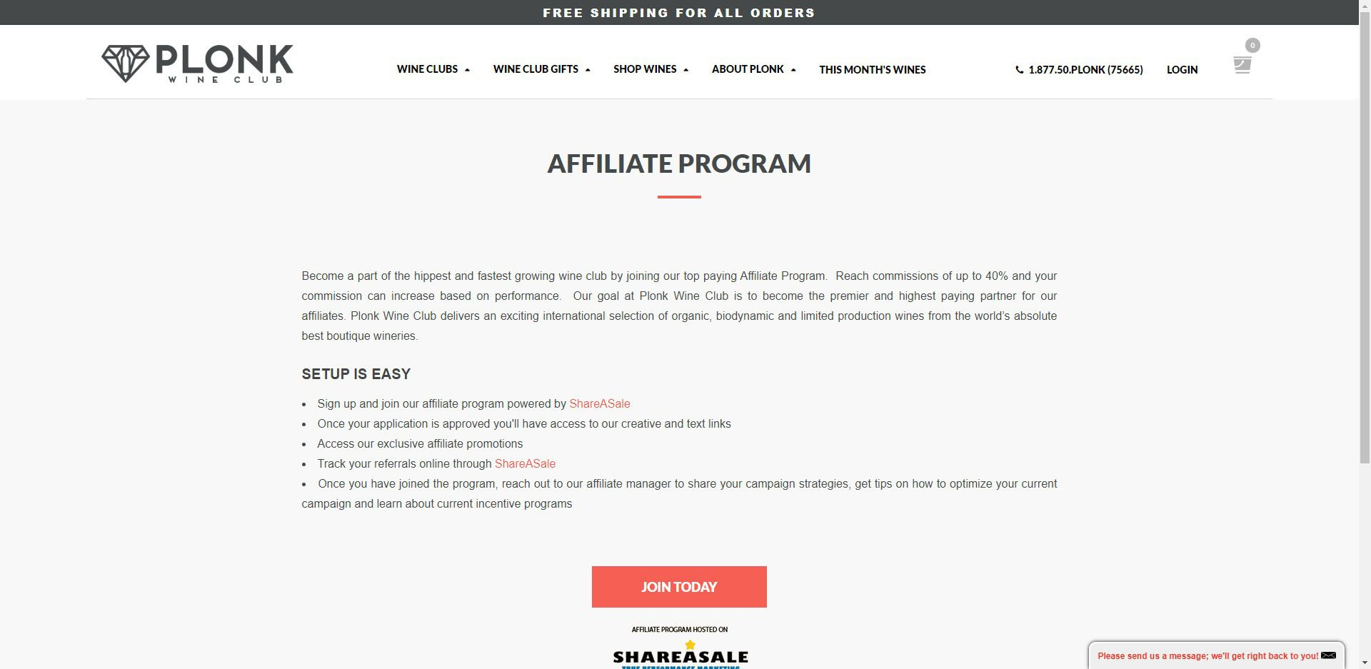 Wine Affiliate Programs - Plonk Wine Club affiliate