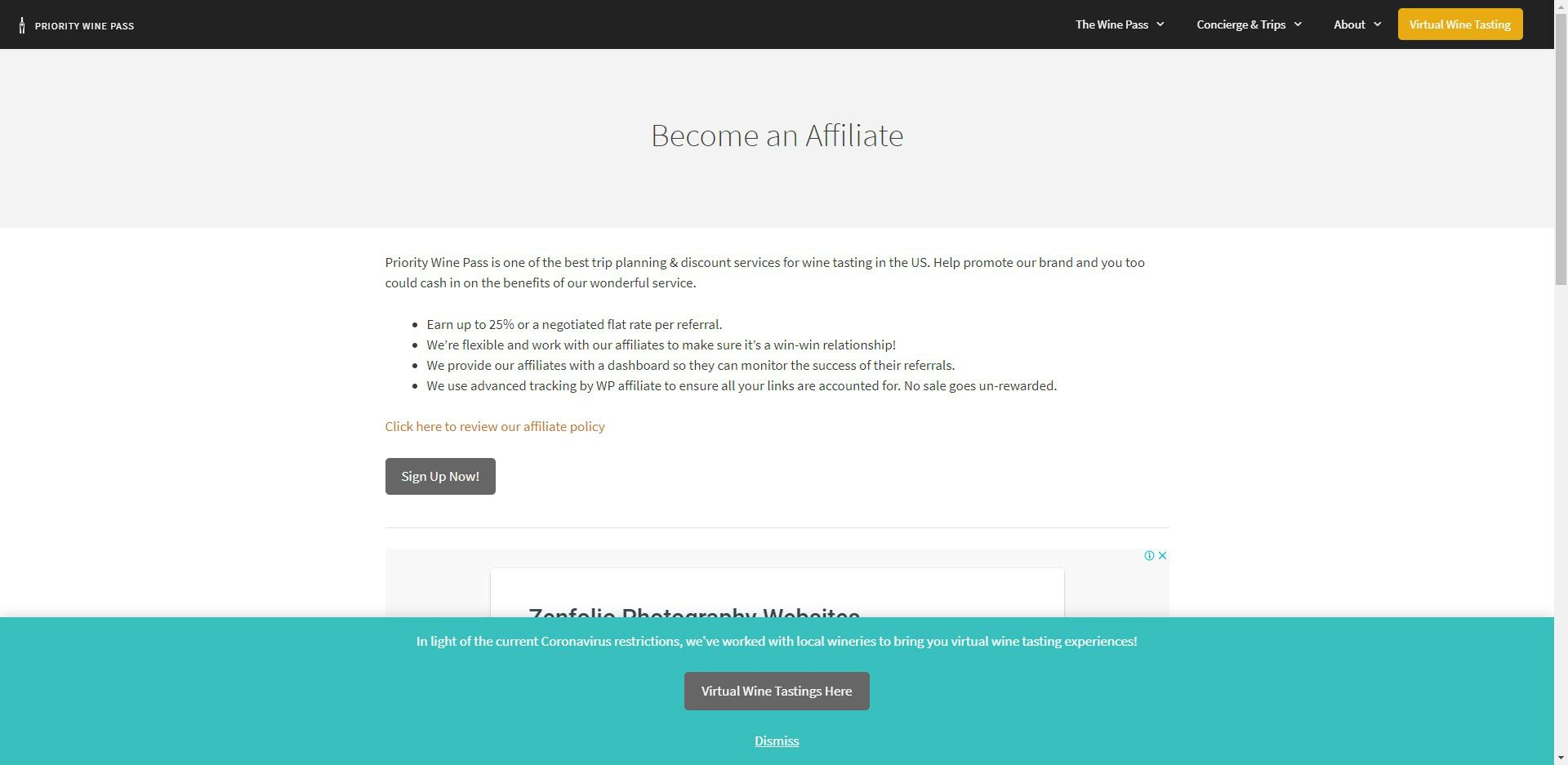 Wine Affiliate Programs - Priority Wine Pass affiliate