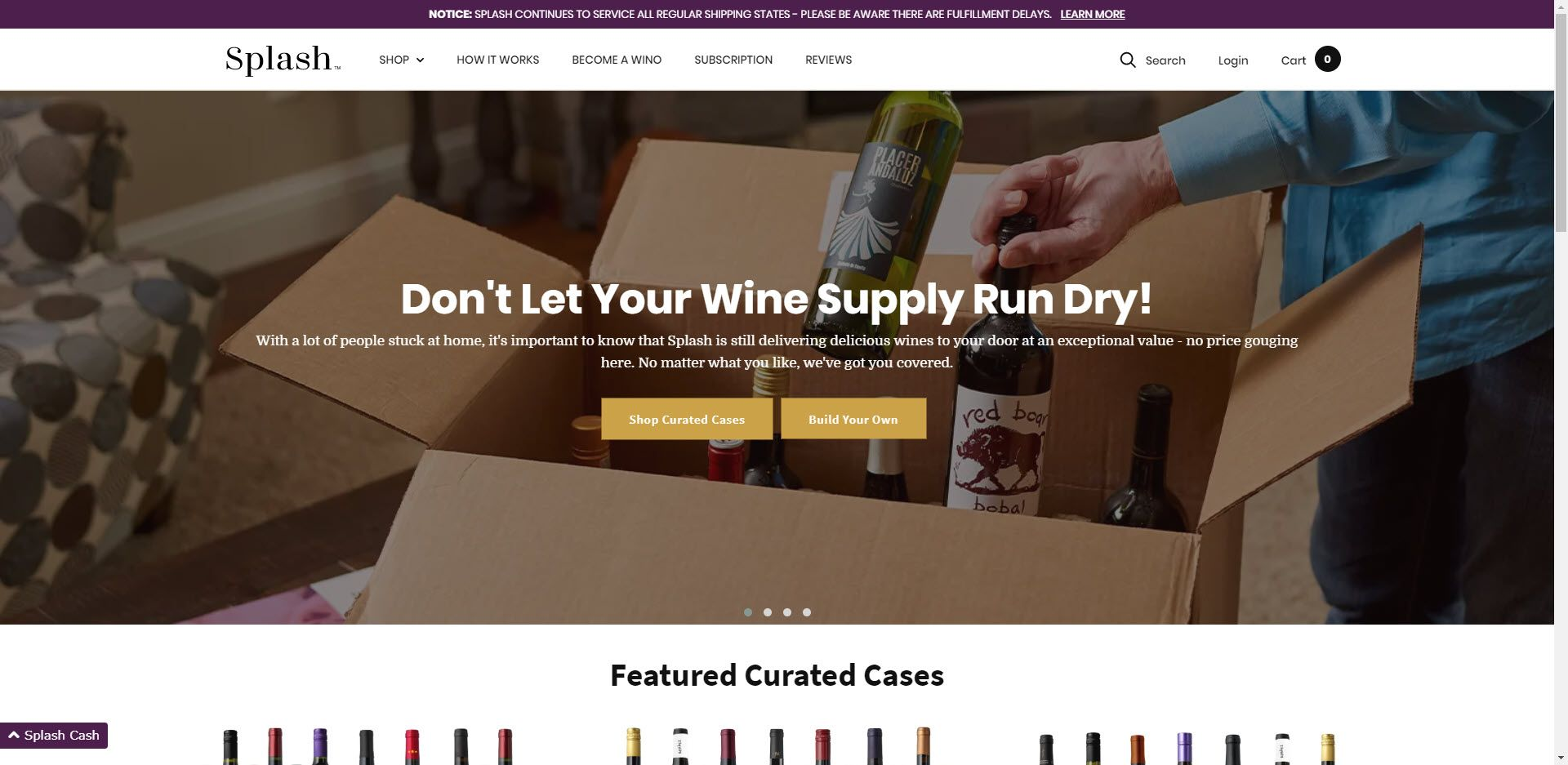 Wine Affiliate Programs - Splash wines