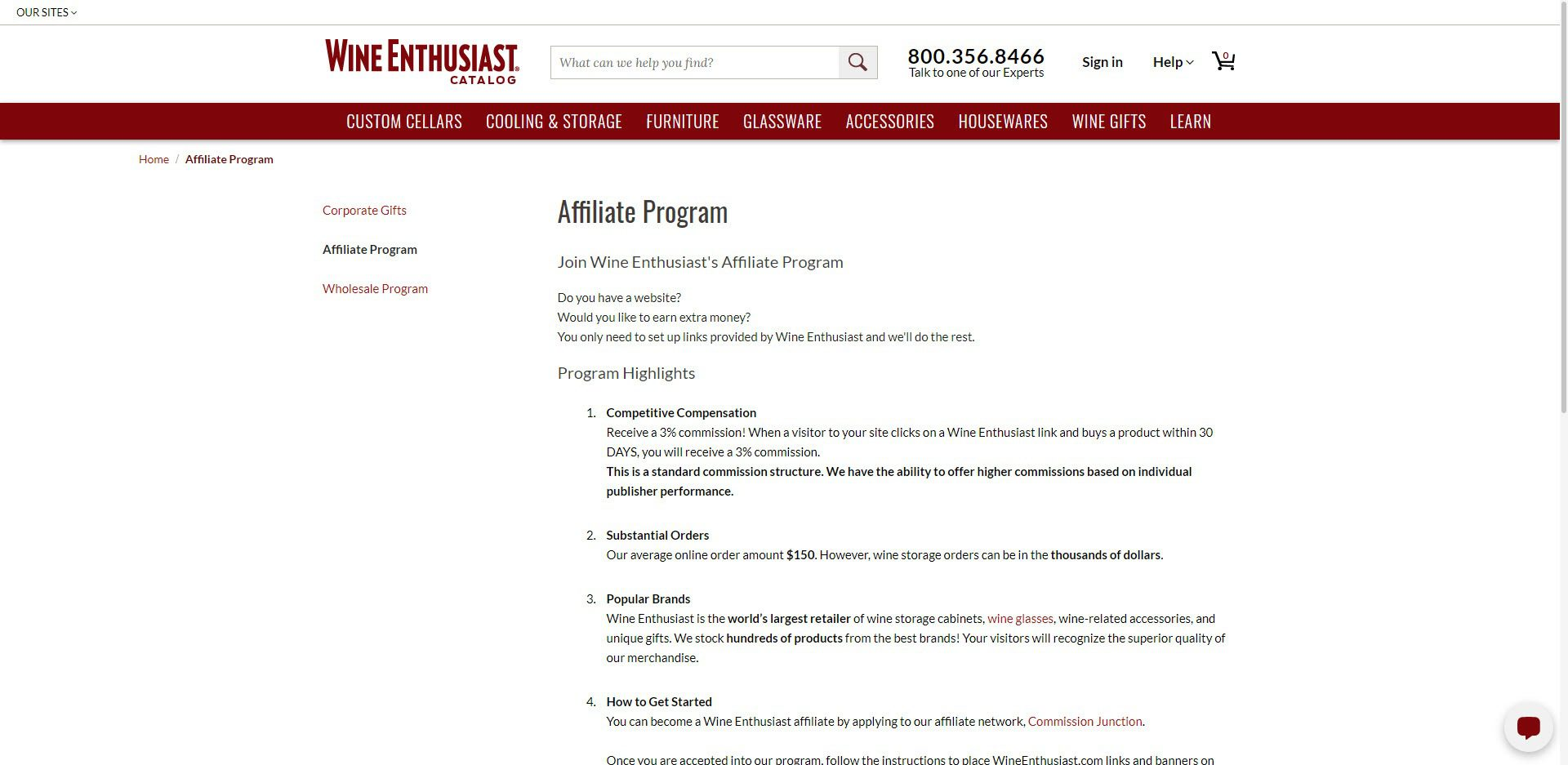 Wine Affiliate Programs - Wine Enthusiast affiliate