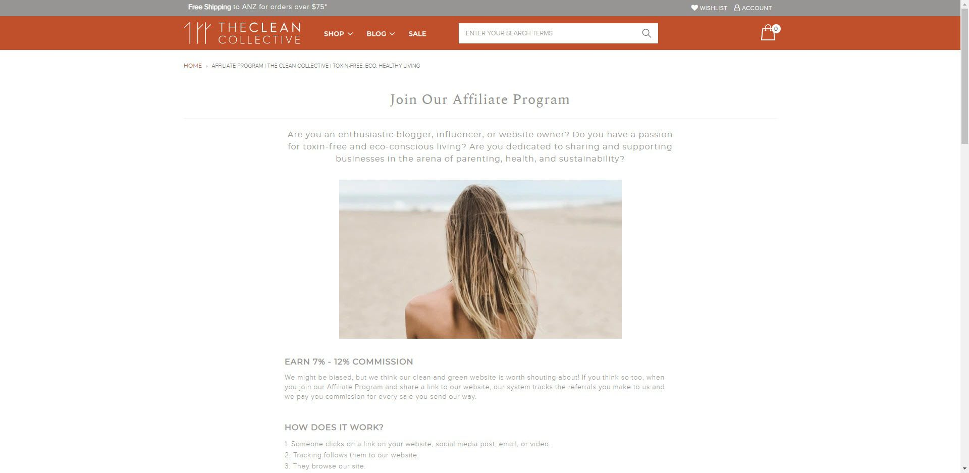 eco friendly affiliate programs - The Clean Collective Affiliate