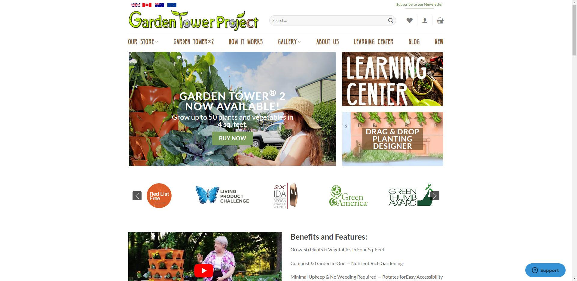 Gardening Affiliate Programs - Garden Tower Project Home