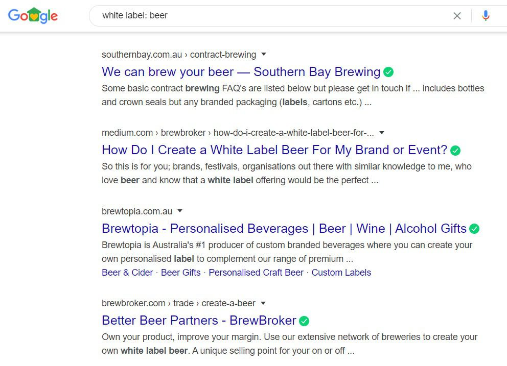 How To Sell Beer Online - White label
