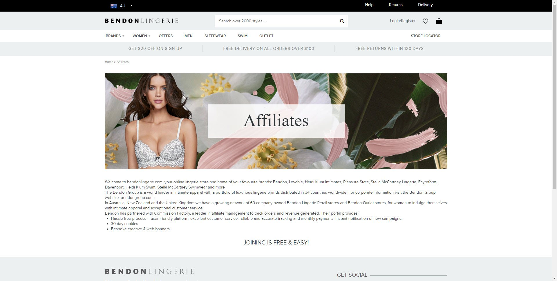 Lingerie Affiliate Programs - Bendon affiliate