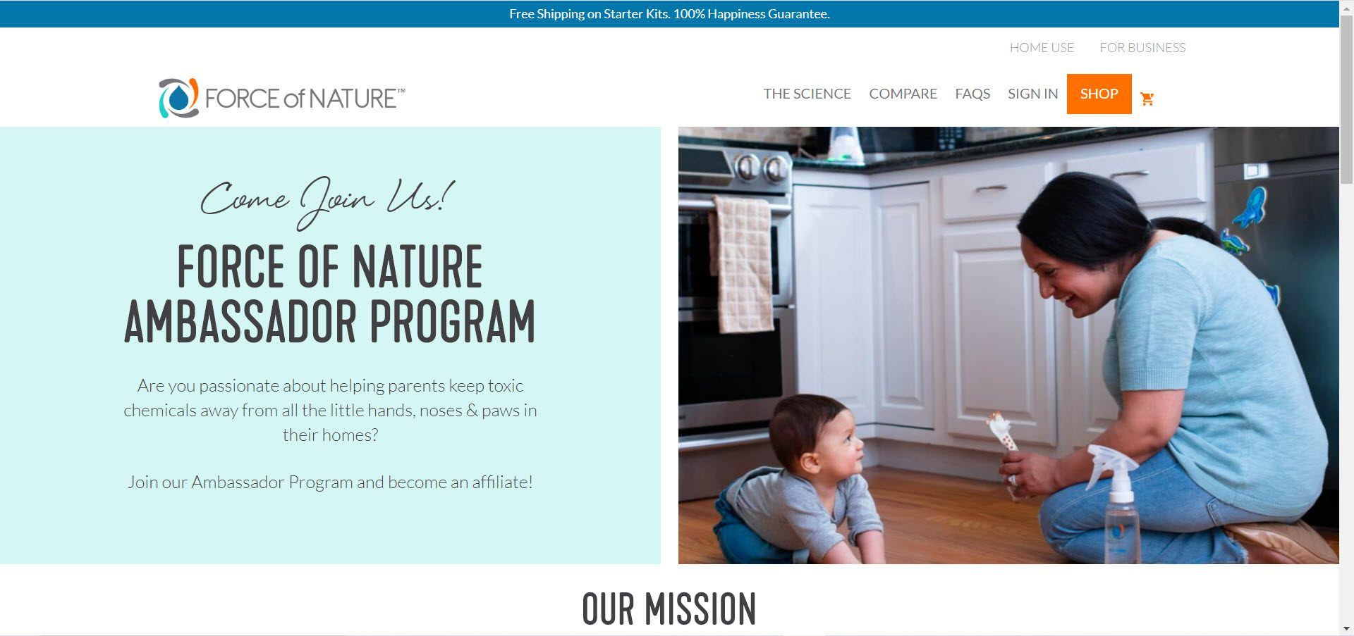 Cleaning Products Affiliate Programs - Force of Nature affiliate