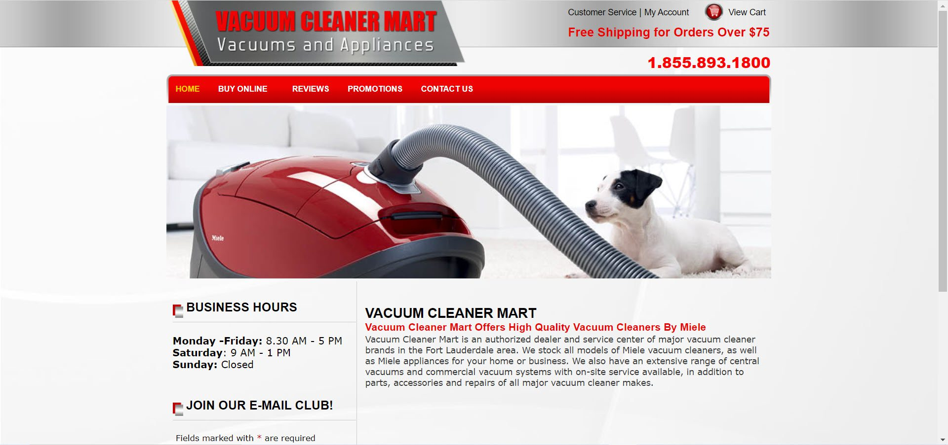 Cleaning Products Affiliate Programs - Vacuum Cleaner Mart
