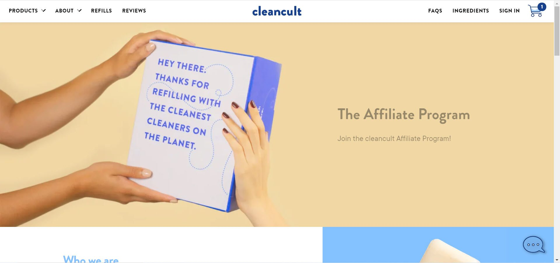 Cleaning Products Affiliate Programs - cleancult affiliate
