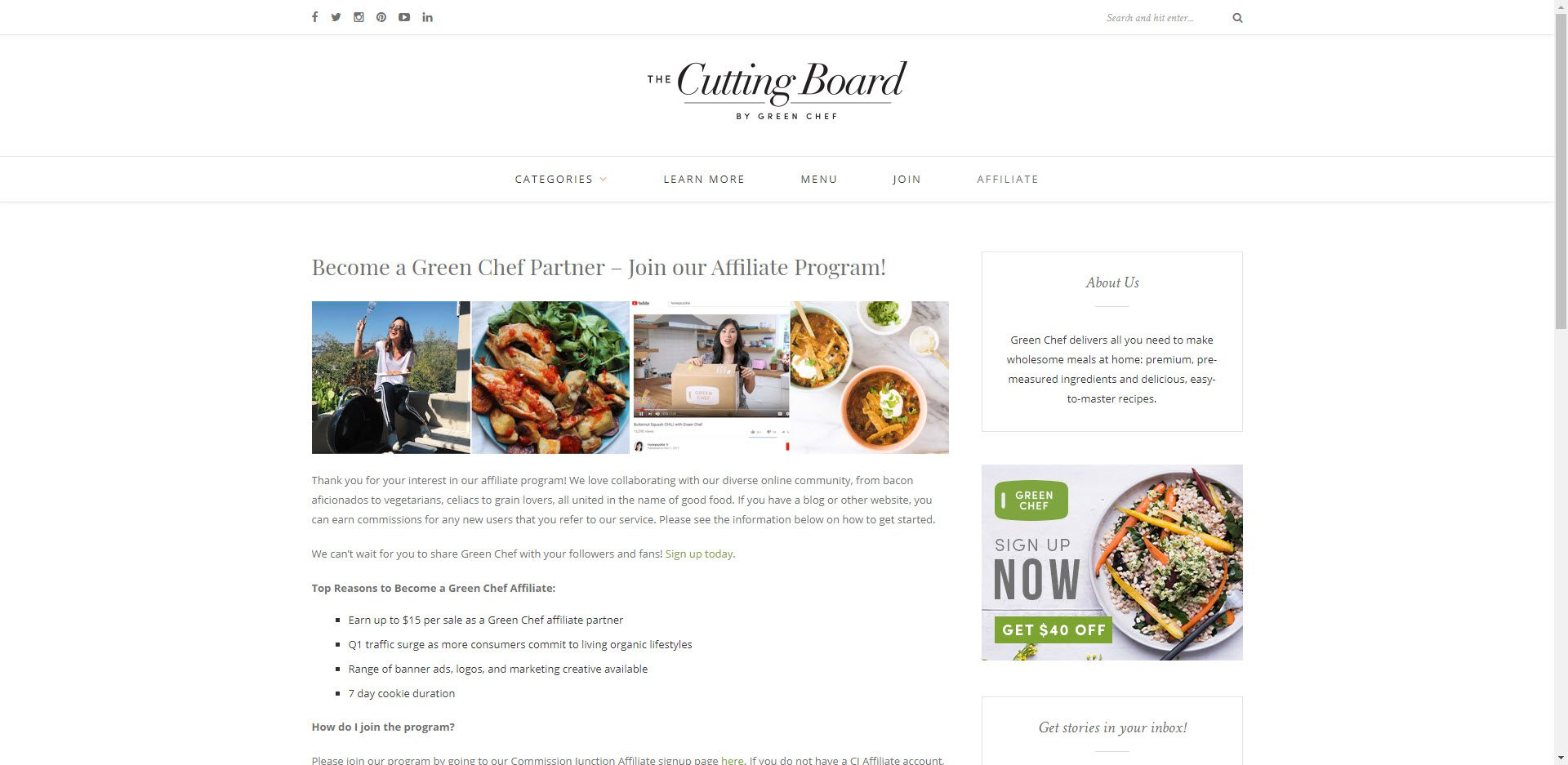 Health Food Affiliate Programs - Green Chef affiliate