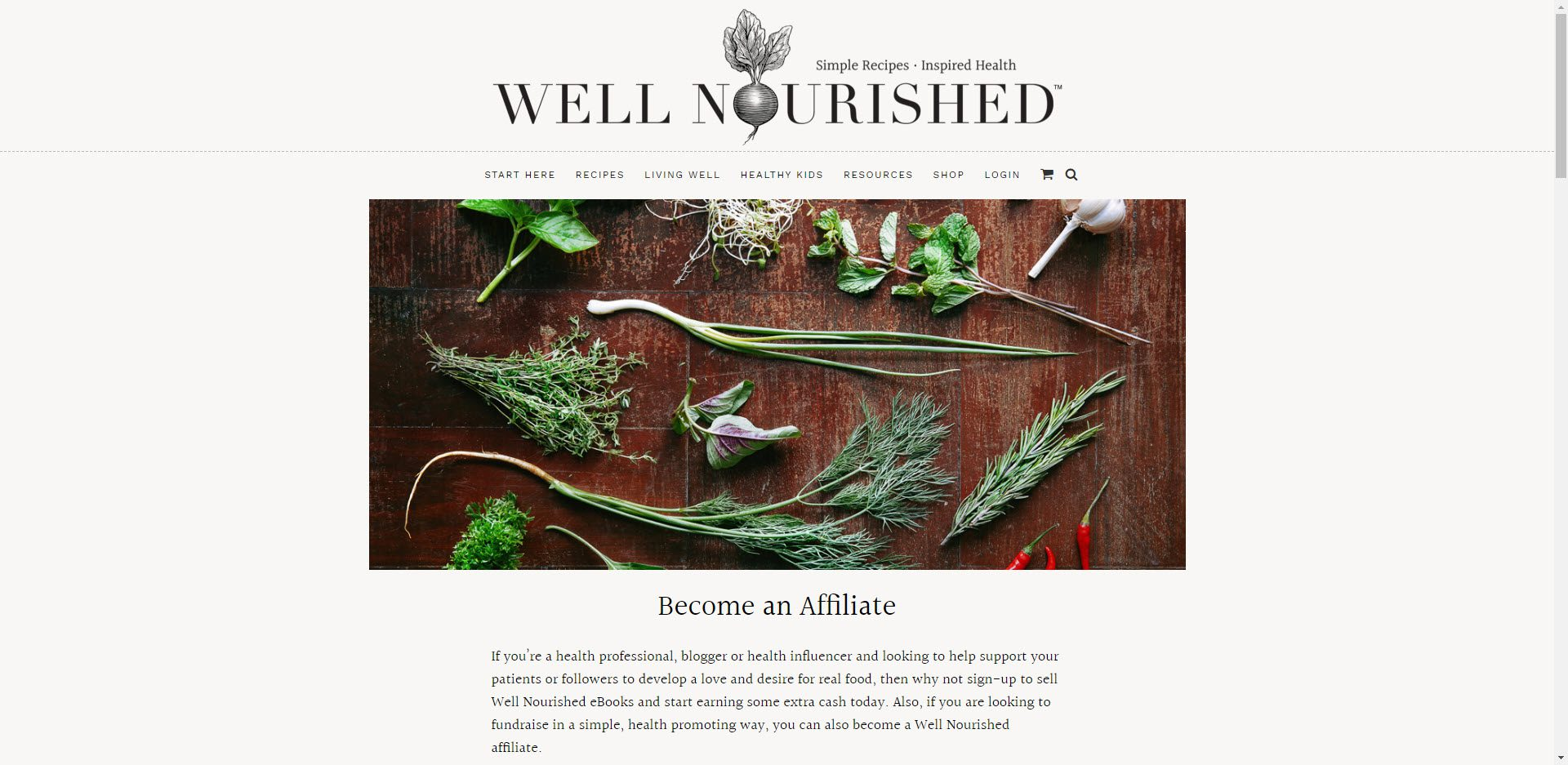 Health Food Affiliate Programs - Well Nourished affiliate