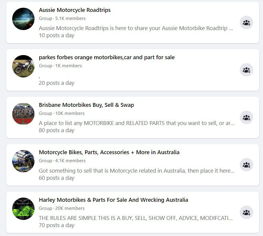 How to Sell Motorbikes Online - FB groups