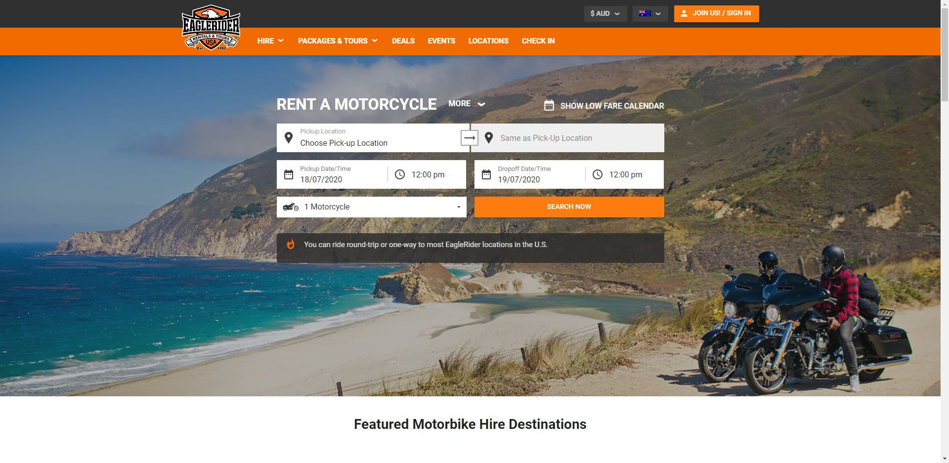 MotorCycle Affiliate Programs - Eagle Rider