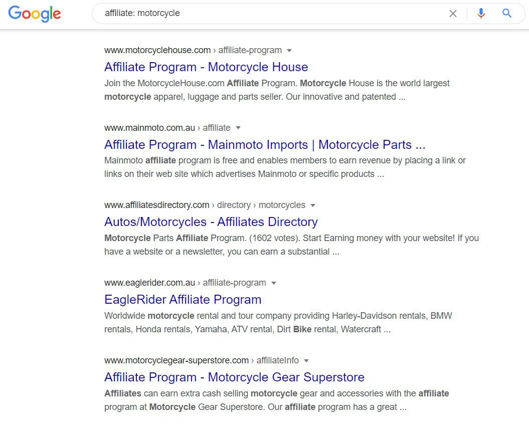 MotorCycle Affiliate Programs - affiliate