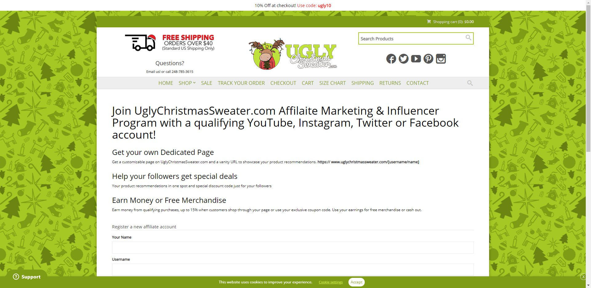 Christmas affiliate programs - Ugly Christmas Sweater Affiliate