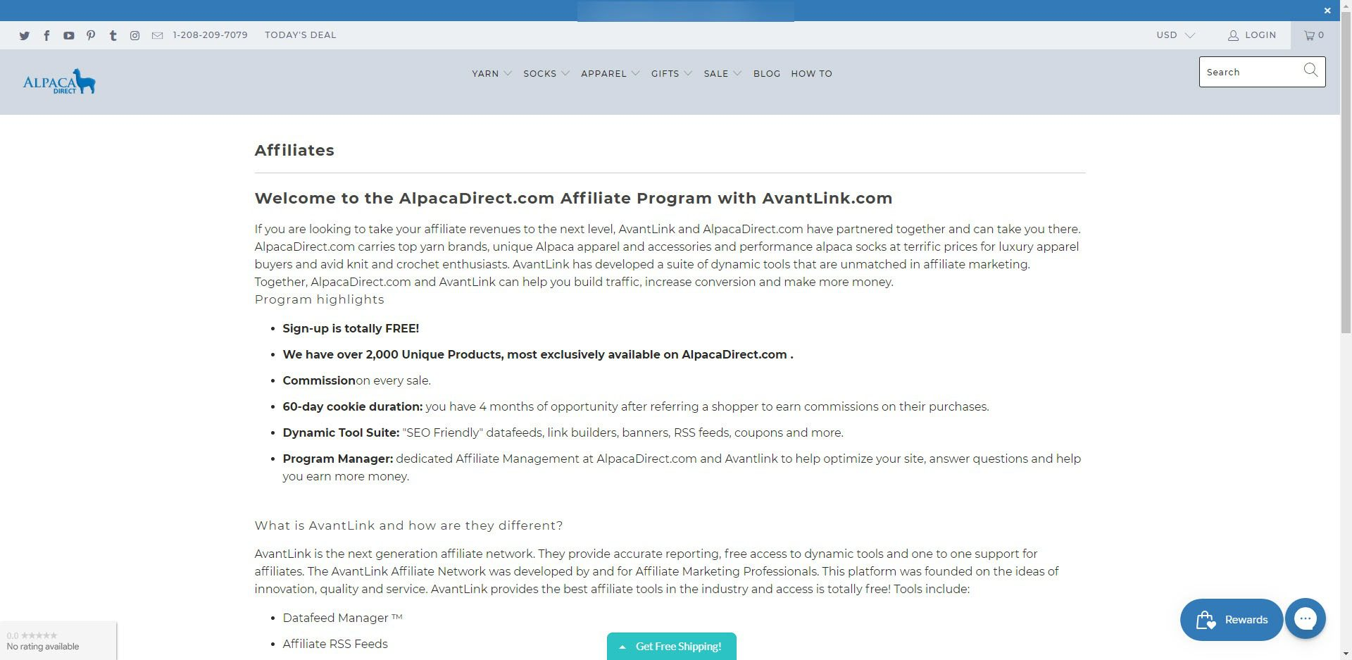 Knitting Affiliate Programs - Alpaca Direct affiliate