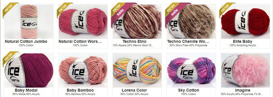 Knitting Affiliate Programs - Ice Yarns stripe