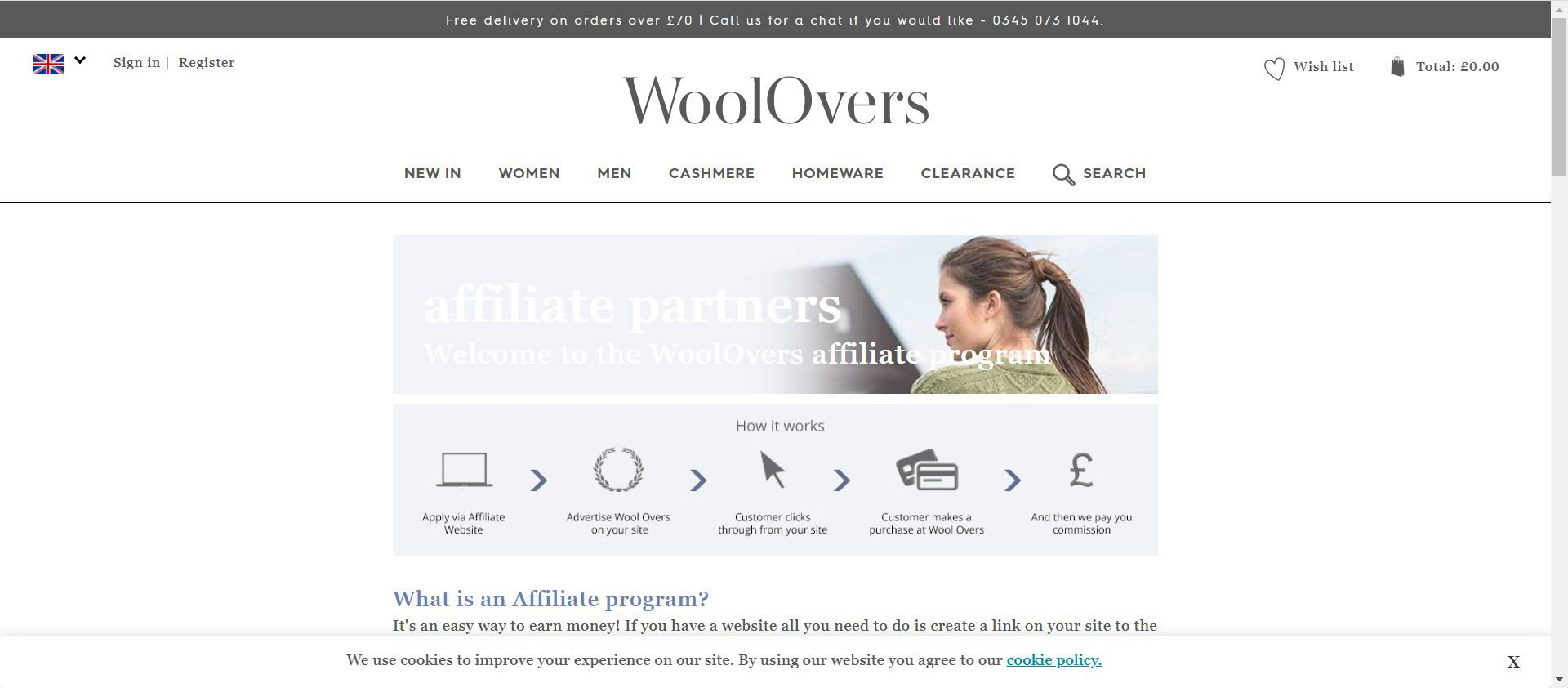 Knitting Affiliate Programs - WoolOvers Affiliate
