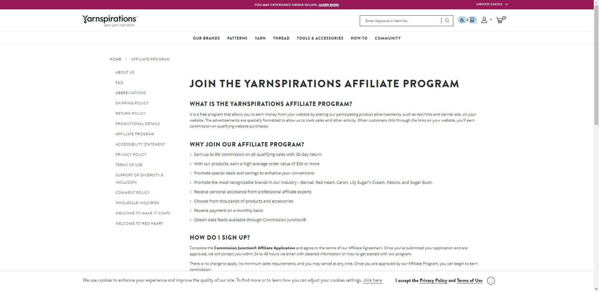 Knitting Affiliate Programs - Yarnspirations Affiliate