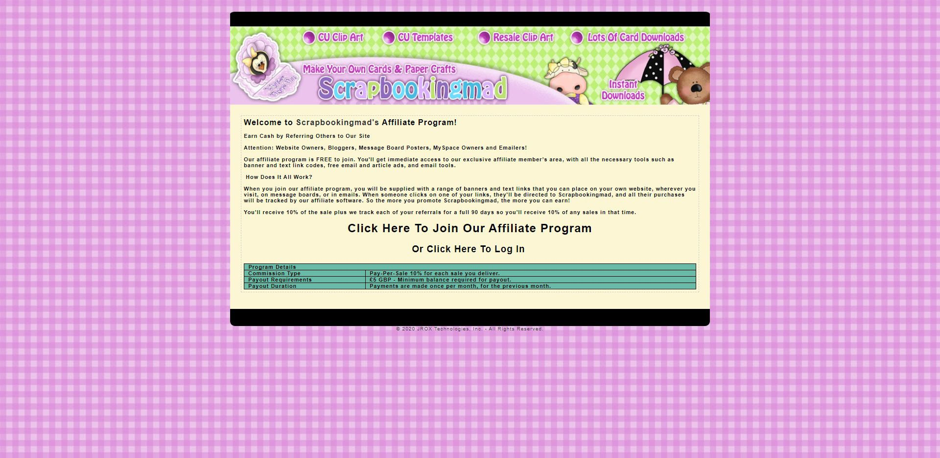Scrapbooking Affiliate Programs - Scrapbooking mad affiliate