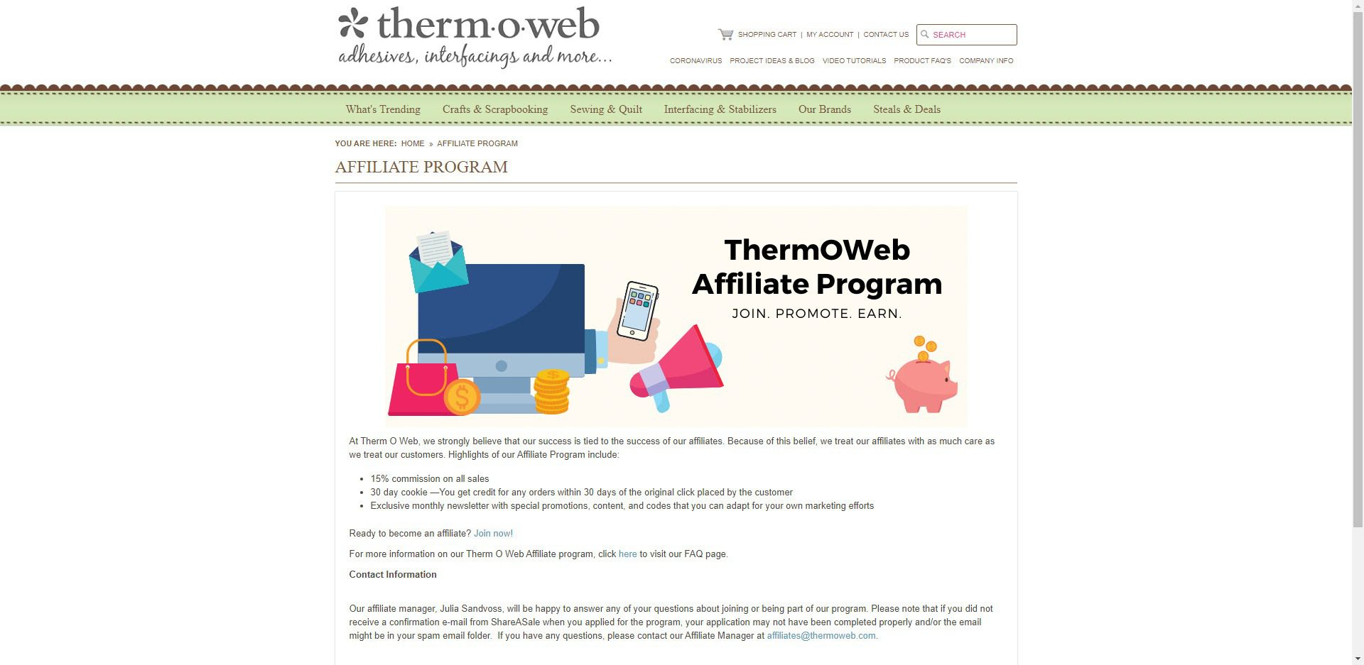 Scrapbooking Affiliate Programs - thermoweb affiliate