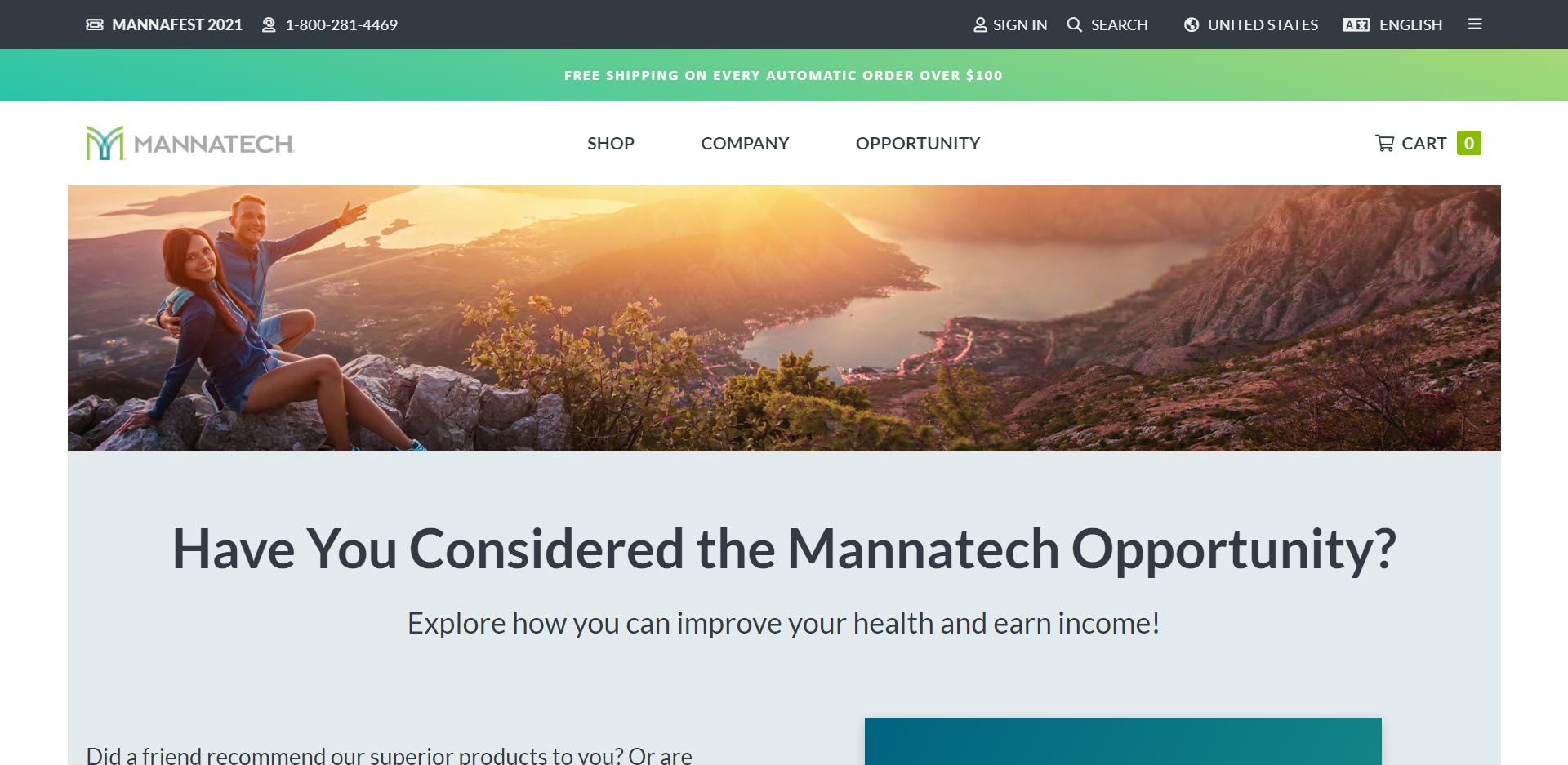 Mannatech MLM Review - Opportunity