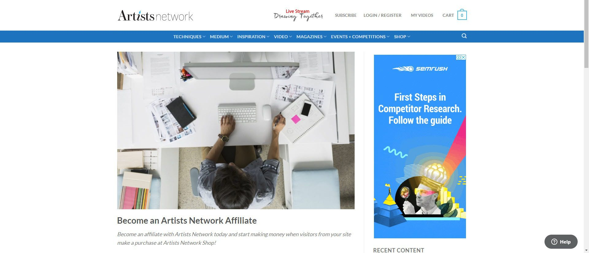 affiliate programs for painters - Artists Network affiliate