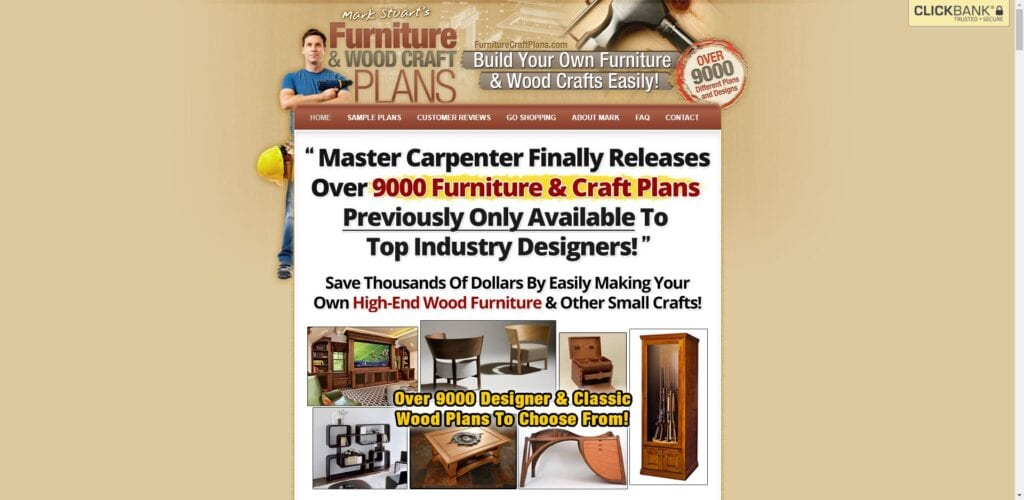 woodworking affiliate programs - furniture and wood craft plans
