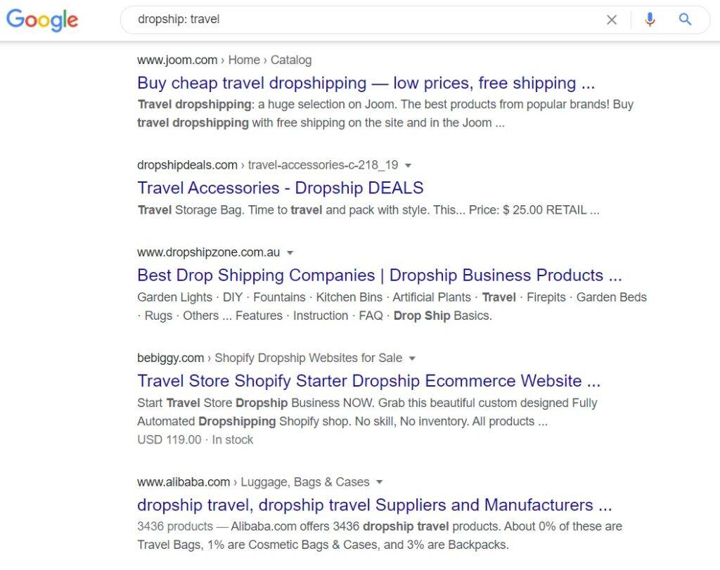 How to make money dropshipping - travel