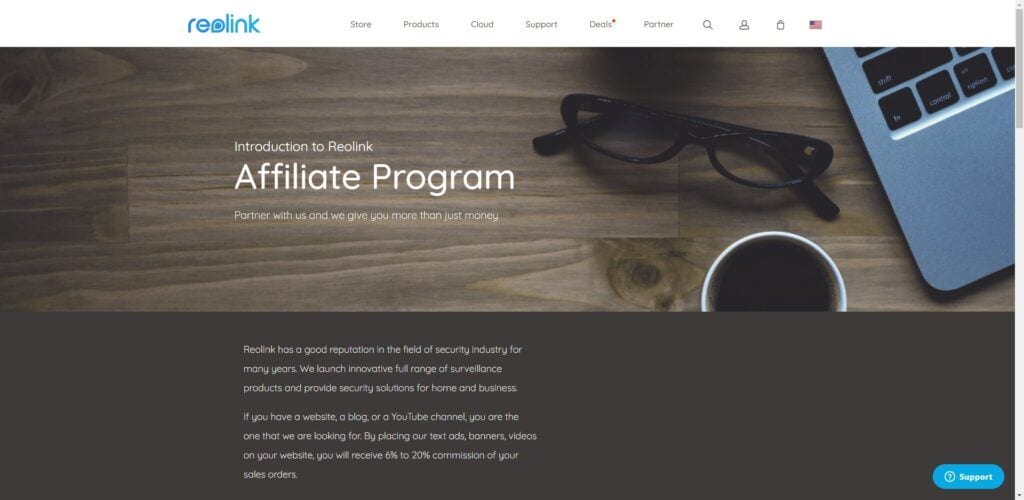 home security affiliate programs - Reolink affiliate