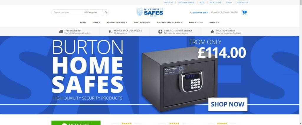 home security affiliate programs - Winterfield safes