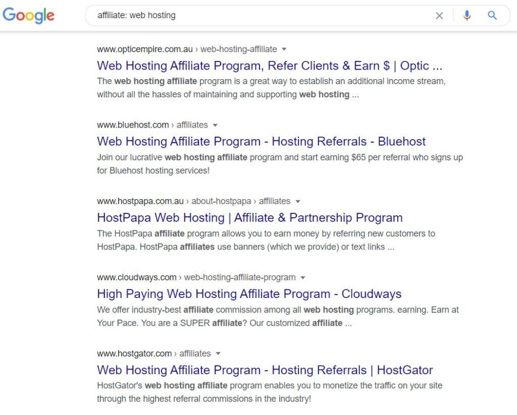 web hosting affiliate programs - Affiliate