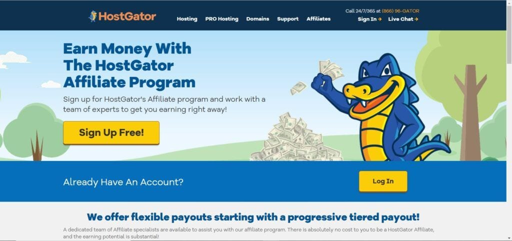 web hosting affiliate programs - Host Gator Affiliate