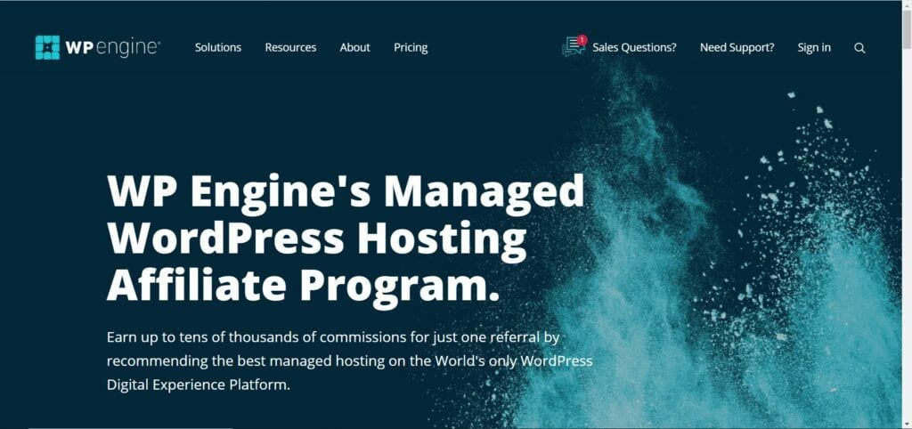 web hosting affiliate programs - WP Engine Affiliate