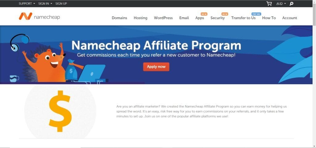 web hosting affiliate programs - namecheap affiliate