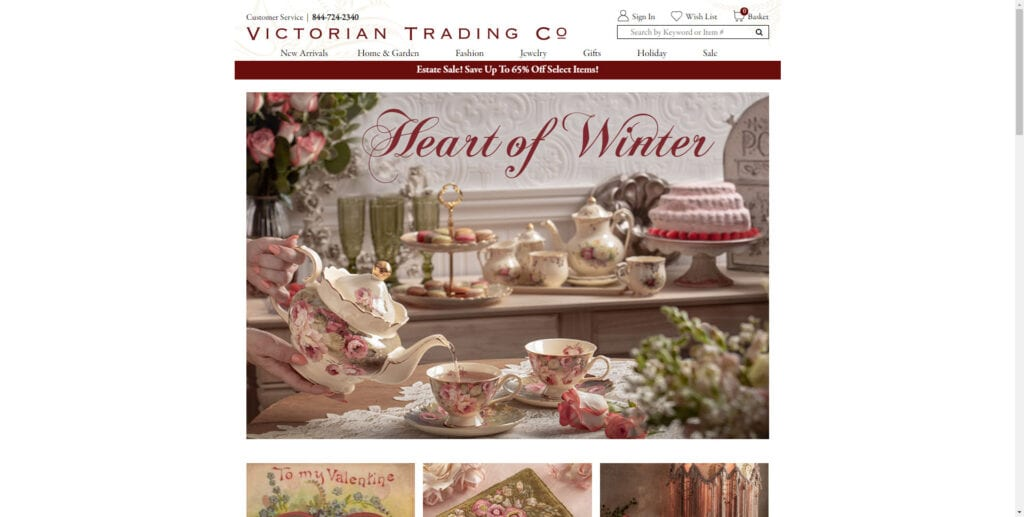 antique affiliate programs - Victorian Trading Co